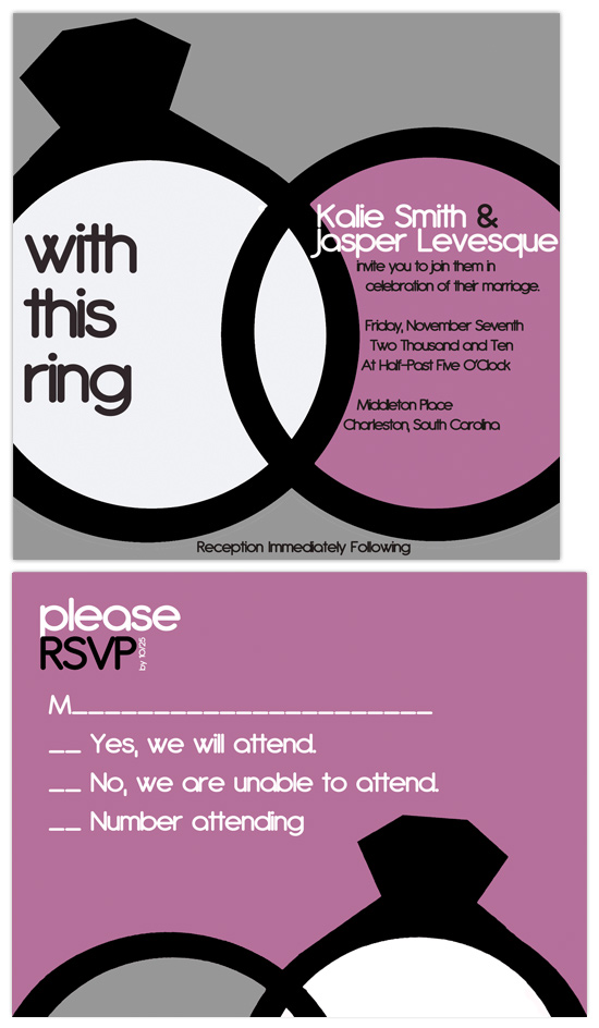 wedding invitations - With This Ring by Christy Vance