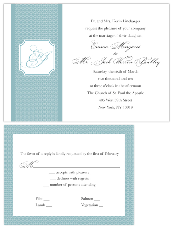 wedding invitations - Classic Love by Megan Bryan
