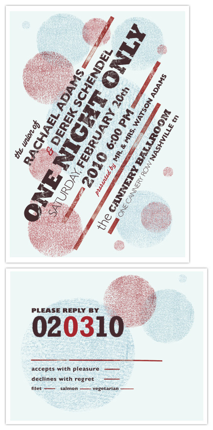 wedding invitations - One Night Only Event by Rachael Schendel