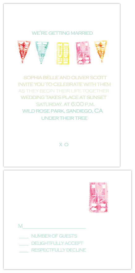 wedding invitations - Pretty Paper banner by Dallas Shaw