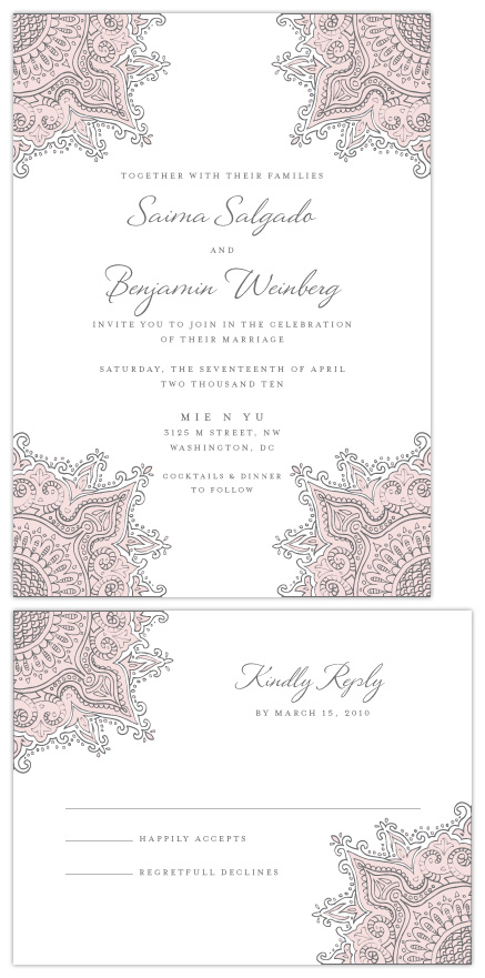 wedding invitations - Batik by Milkmaid Press