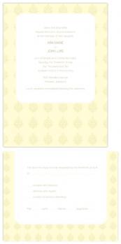 English Vintage Wedding card
