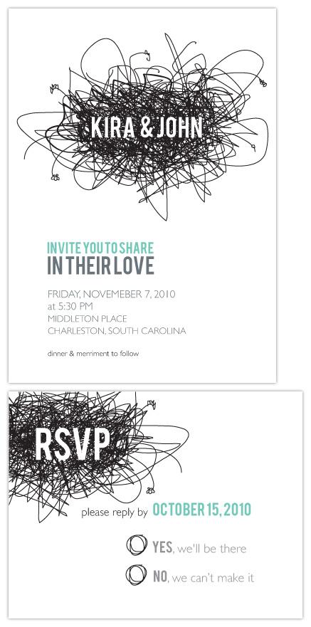 wedding invitations - lovenest by kelly robinson harris