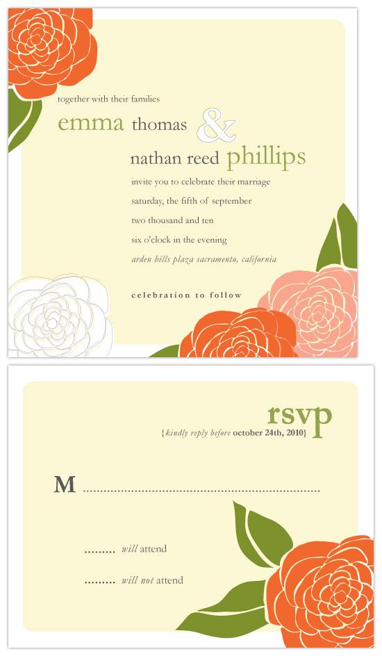 wedding invitations - Garden of joy by SimpleTe Design