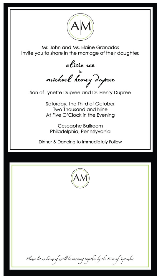 wedding invitations - crisp, clean, circles by Weddings and Wellies