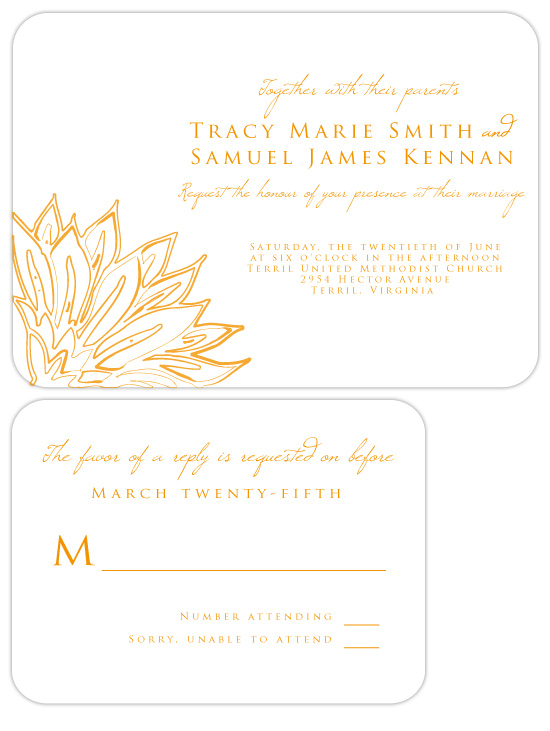 wedding invitations - Mandarina by Mónica Pérez Álvarez