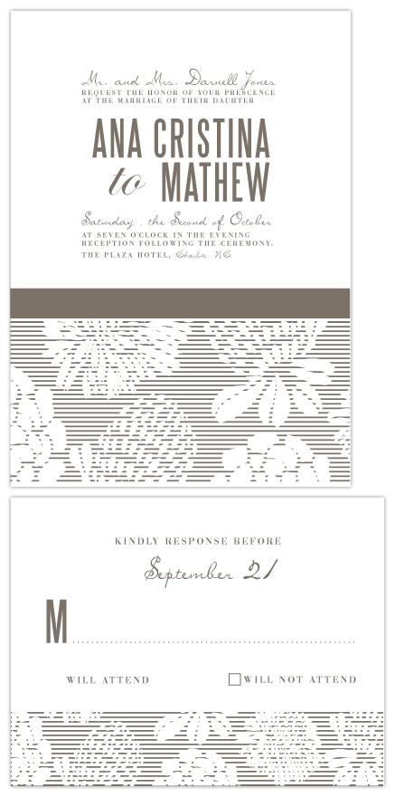wedding invitations - Vanilla by Mónica Pérez Álvarez