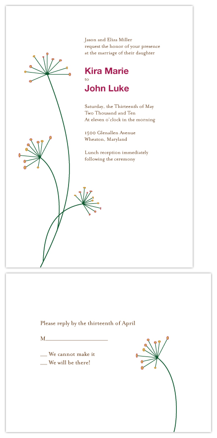 wedding invitations - Springtime Buds by Erin Calver