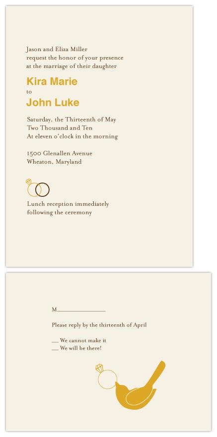 wedding invitations - Fall Wedding Rings by Erin Calver