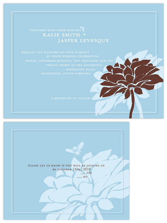 wedding invitations - dahlia mod by Heather Mihalic