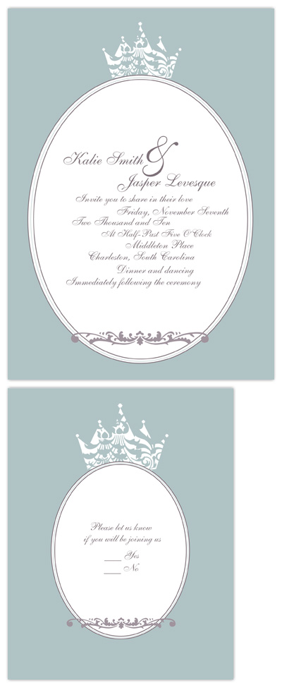 wedding invitations - royal by Heather Mihalic