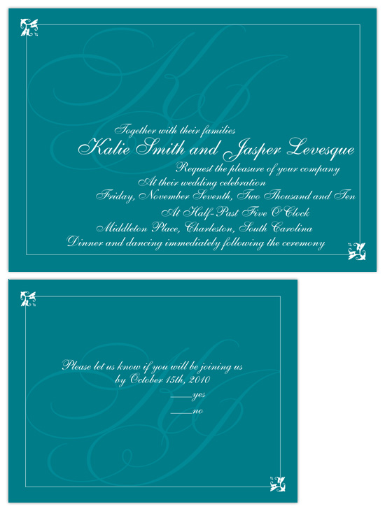 wedding invitations - watermarked monogram  by Heather Mihalic