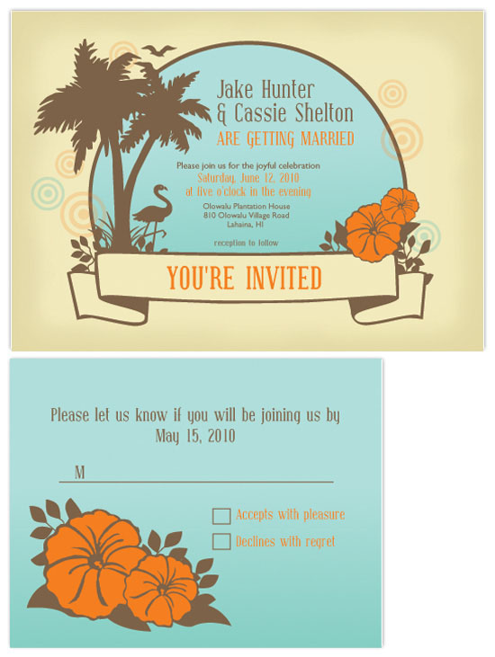 wedding invitations - Vintage Beach Wedding by Lori Moore