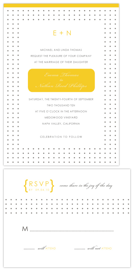 wedding invitations - E+N by SimpleTe Design