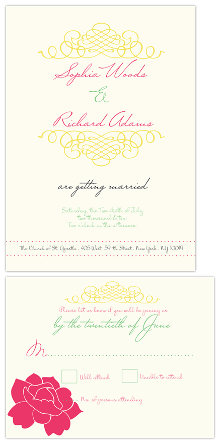 wedding invitations - Simplicity In Curls by Elly