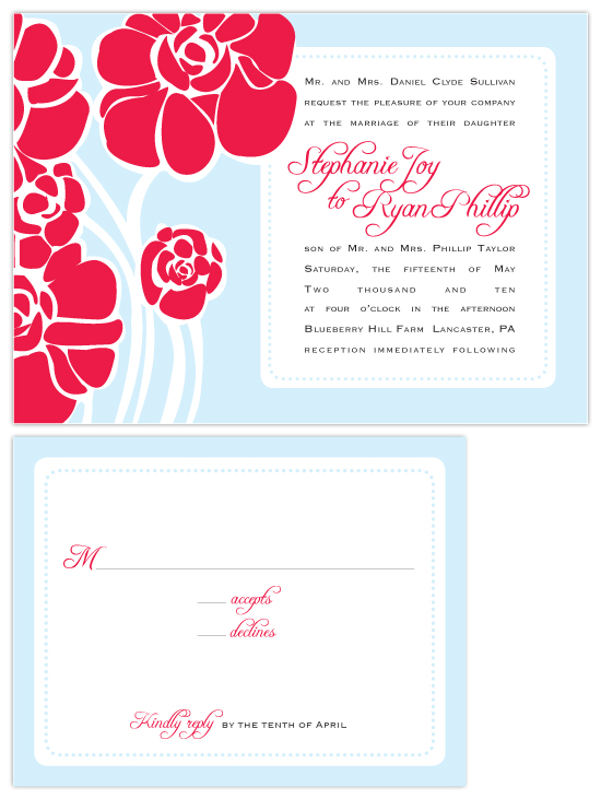 wedding invitations - Floppy Flowers by Lucy Limelight