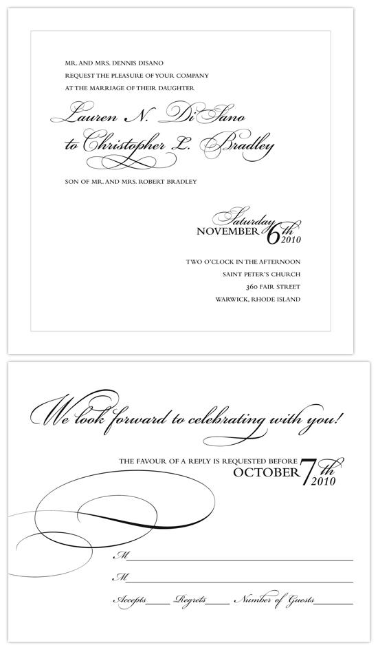 wedding invitations - Timeless Elegance by nichole tremblay