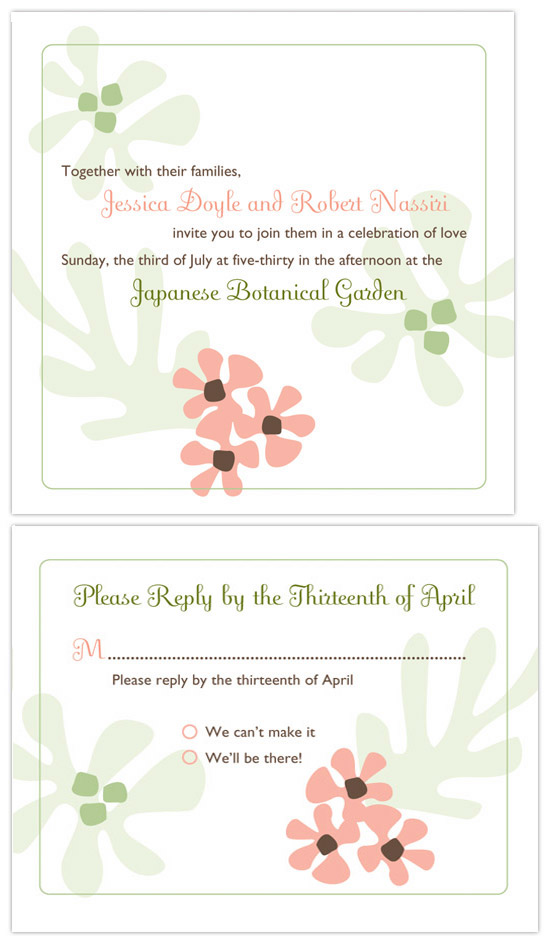 wedding invitations - Botanical by Wendy Sommers