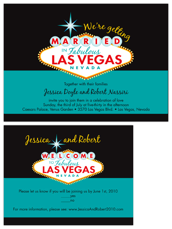 Wedding Invitations Fabulous Las Vegas