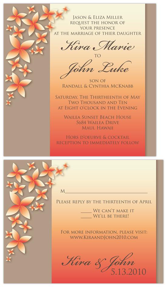 wedding invitations - Asoka Flower by Amanda Heineman