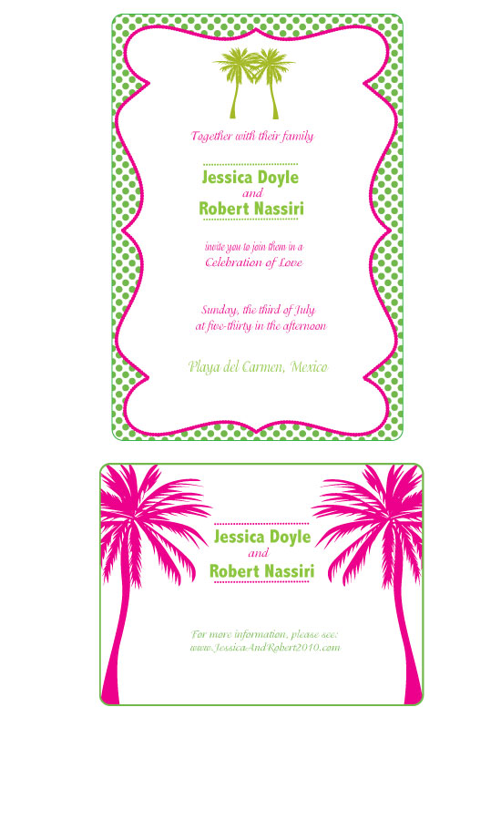 wedding invitations - Palm Tree Destination Invitation by Seaside Invitations