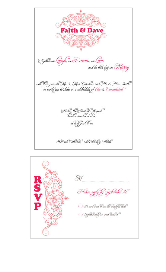 wedding invitations - Queen Invitation by Seaside Invitations