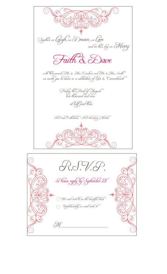 wedding invitations - Princess Invitation by Seaside Invitations
