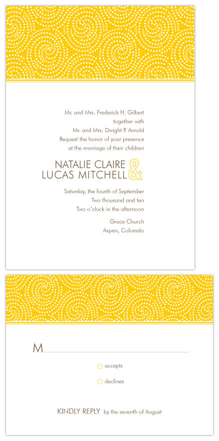 wedding invitations - Whirly Dot by Lucy Limelight