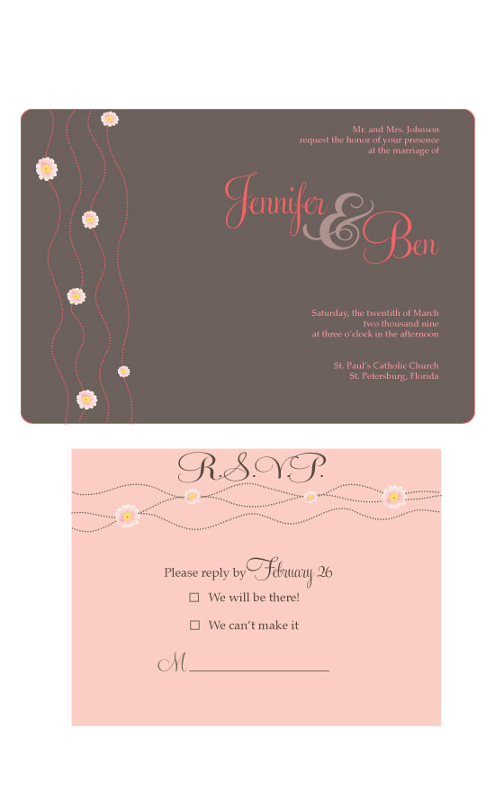 wedding invitations - Romance Invitation by Seaside Invitations