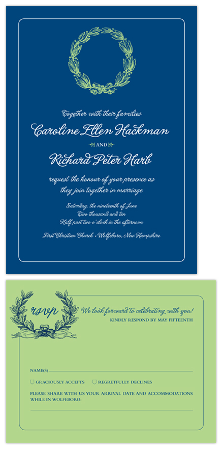 wedding invitations - Preppy Modern by nichole tremblay