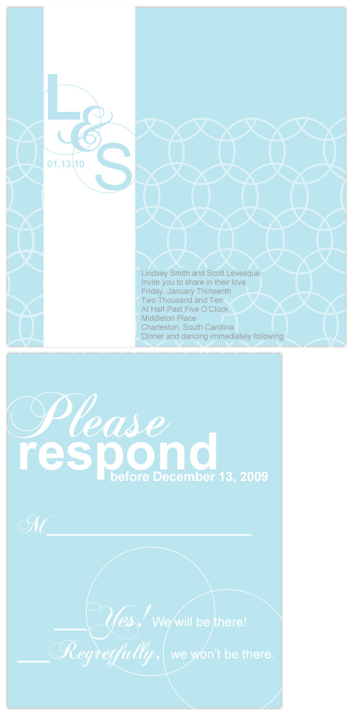 wedding invitations - Blue Mod Rings by Hailey Erickson