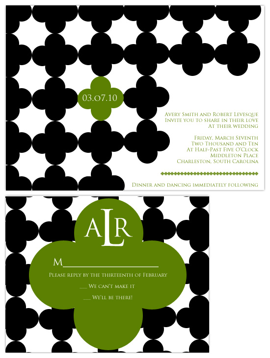 wedding invitations - Bold Black & White by Hailey Erickson