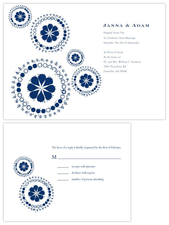 wedding invitations - Retro in twilight by chica design