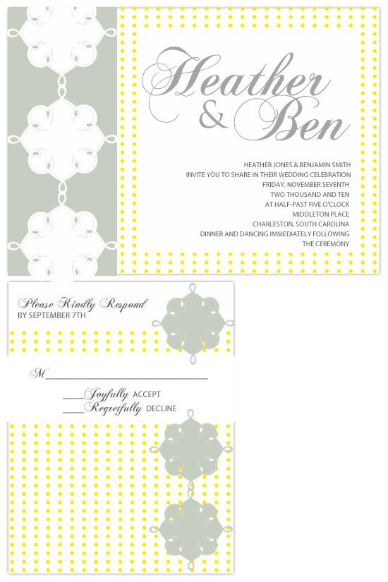 wedding invitations - Yellow Retro by Hailey Erickson