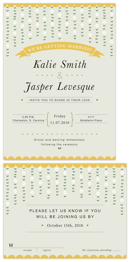 wedding invitations - Leaves and Flowers by Alison