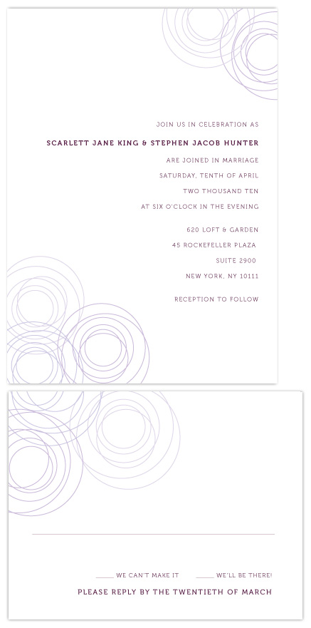 wedding invitations - Circles Of Love by Love Letters