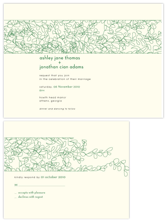 wedding invitations - wedding vines by pb house