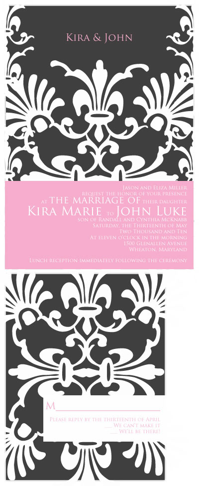 wedding invitations - Vintage Damask by Hailey Erickson