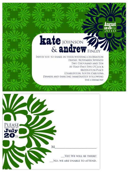 wedding invitations - Modern Green by Hailey Erickson