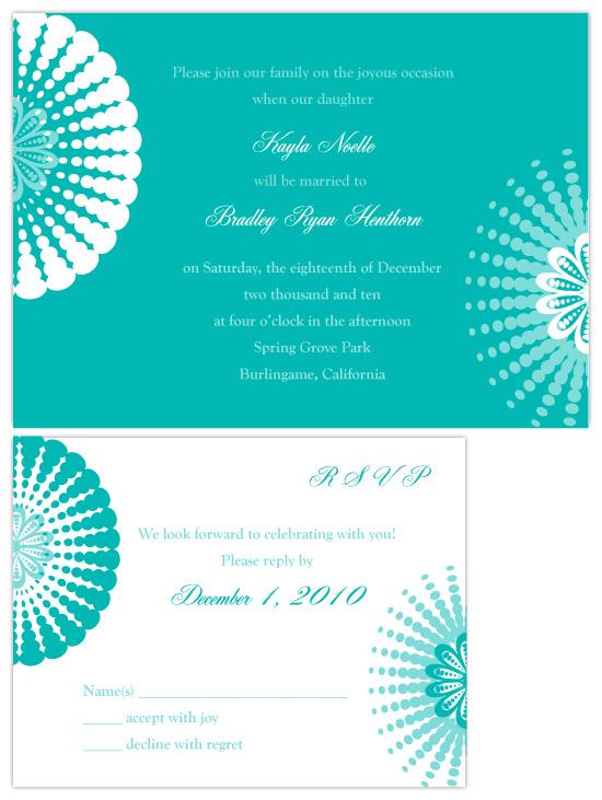 wedding invitations - Modern Tiffany Elegance by Joyful Heart Design
