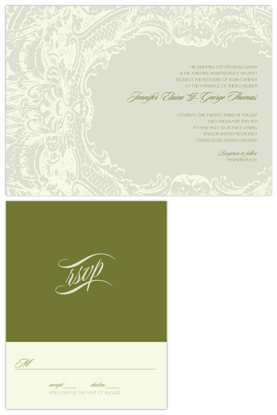wedding invitations - belgium veil by SD Design