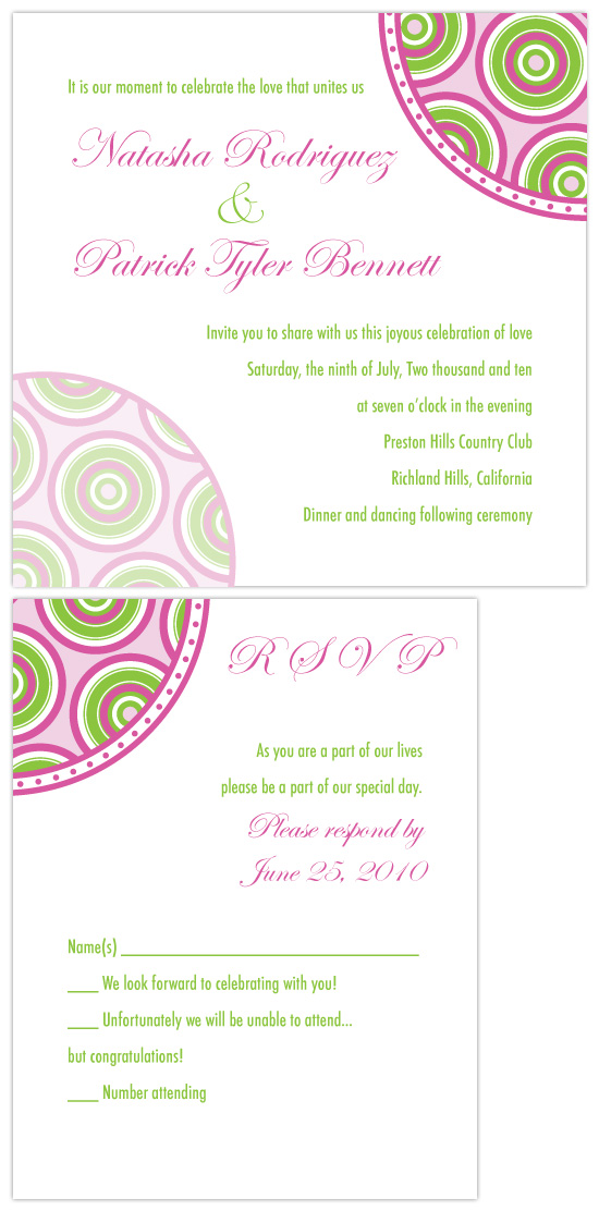 wedding invitations - Circles Spots and Dots by Joyful Heart Design