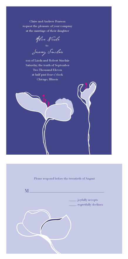 wedding invitations - Magnolia Blossom by Sarah Drake