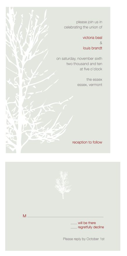 wedding invitations - Winter Tree by Sarah Drake