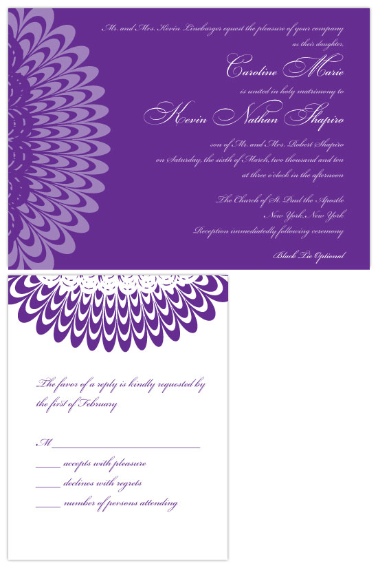 wedding invitations - Regal Ruffles by Joyful Heart Design