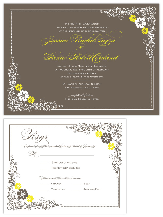 wedding invitations - Floral frame by Coco and Ellie Design