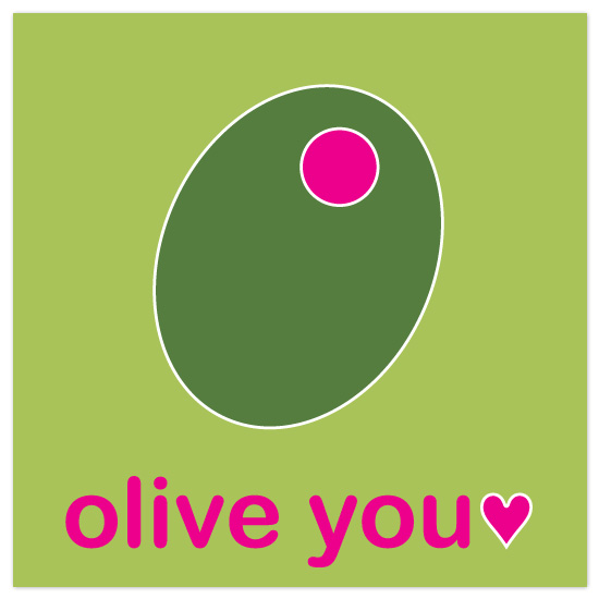 valentine's day - olive you by emily koehler