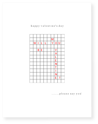 valentine's day - crossword by Marabou Design