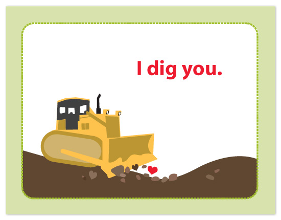 valentine's day - I Dig You by Lisa Razza