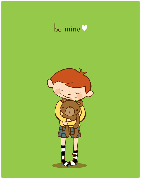 valentine's day - be mine. by Everyday Greeting